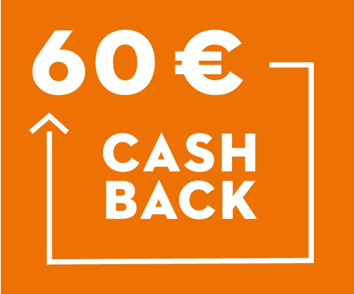60 € Cashback